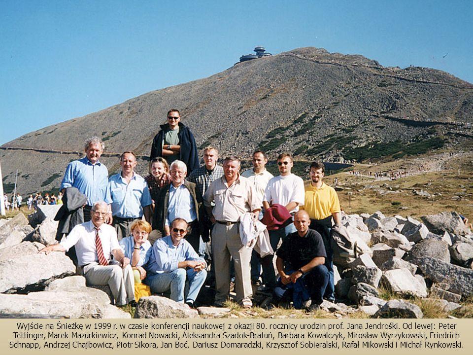 Wyjście na Śnieżkę w 1999 r.w czasie konferencji naukowej z okazji 80.