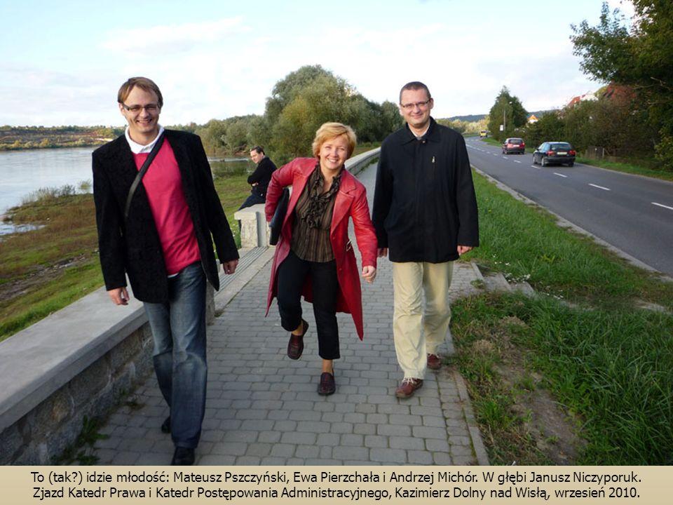 To (tak?) idzie młodość: Mateusz Pszczyński, Ewa Pierzchała i Andrzej Michór.