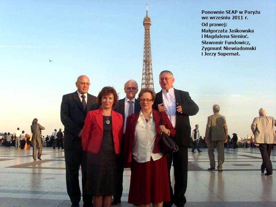 Ponownie SEAP w Paryżu we wrześniu 2011 r.Od prawej: Małgorzata Jaśkowska i Magdalena Sieniuć.