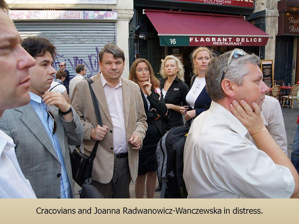 Cracovians and Joanna Radwanowicz-Wanczewska in distress. JRW