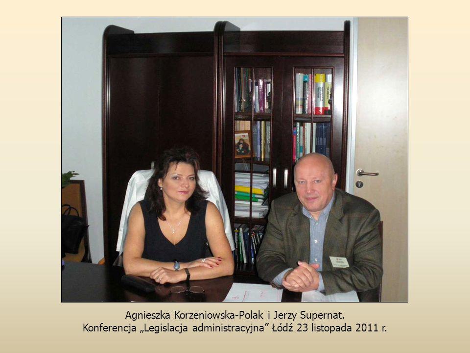 Agnieszka Korzeniowska-Polak i Jerzy Supernat.
