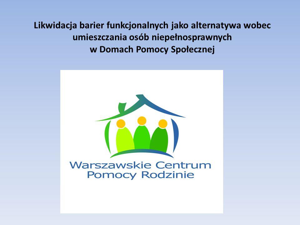 Likwidacja barier architektonicznych Warszawskie Centrum Pomocy Rodzinie Warszawa 2011 Przed likwidacjąPo likwidacji