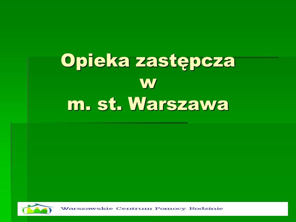Opieka zastępcza w m. st. Warszawa