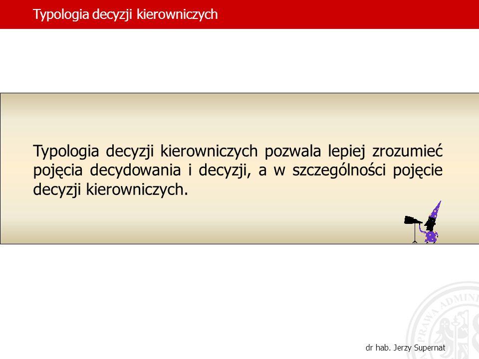 23 Koncepcja determinant decyzji Jerzego Wróblewskiego determinanty formalne determinanty reguły decyzji determinanty konkretne Według normatywnego wyznaczenia treści decyzji dr hab.