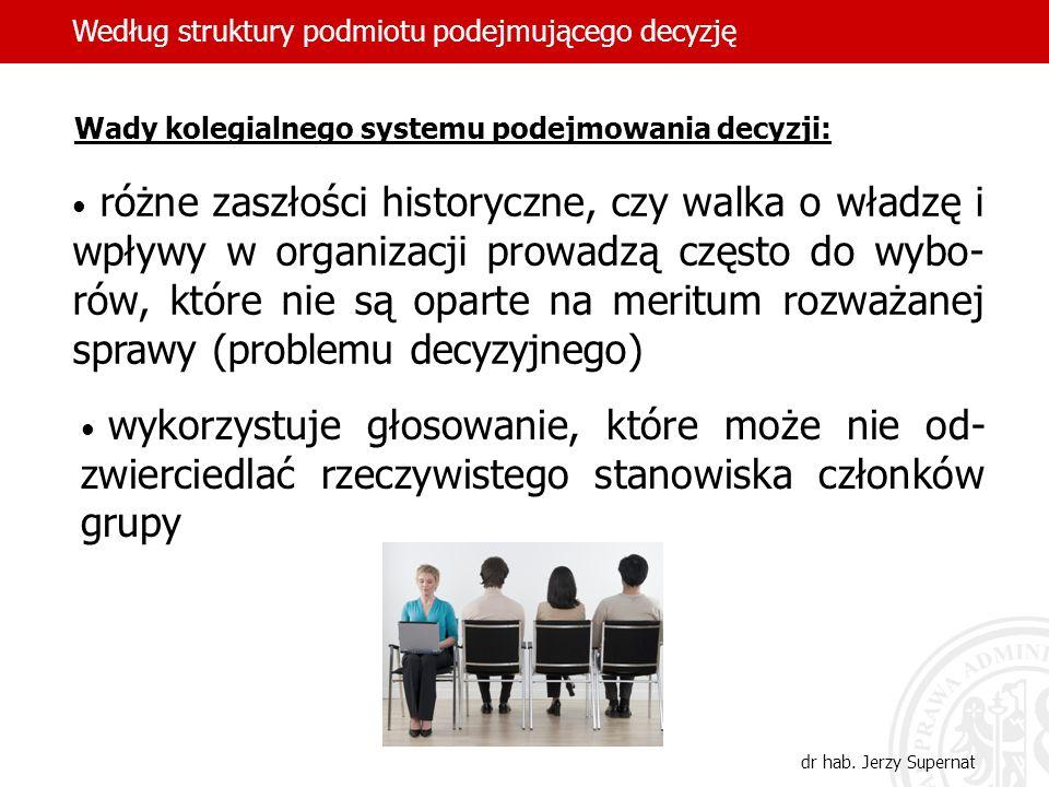 29 Koncepcja determinant decyzji Janusza Borkowskiego (ur.