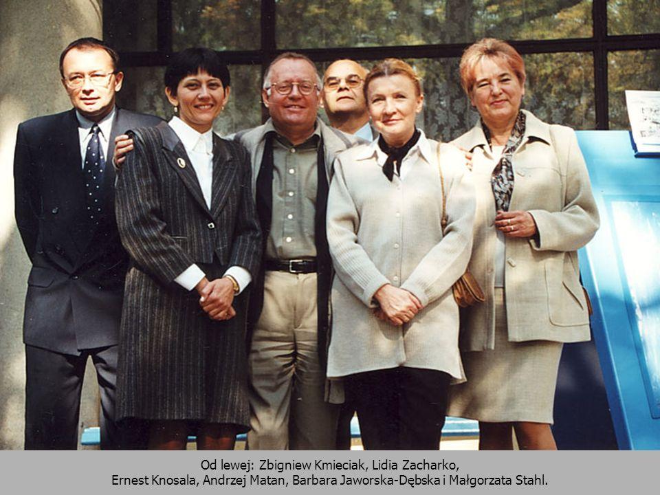Od lewej: Zbigniew Kmieciak, Lidia Zacharko, Ernest Knosala, Andrzej Matan, Barbara Jaworska-Dębska i Małgorzata Stahl.