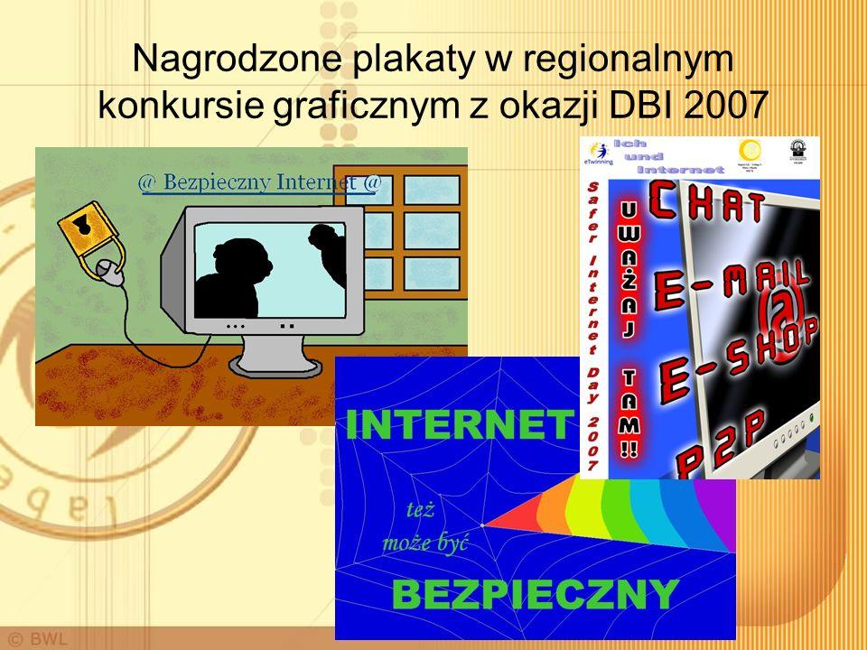 Nagrodzone plakaty w regionalnym konkursie graficznym z okazji DBI 2007