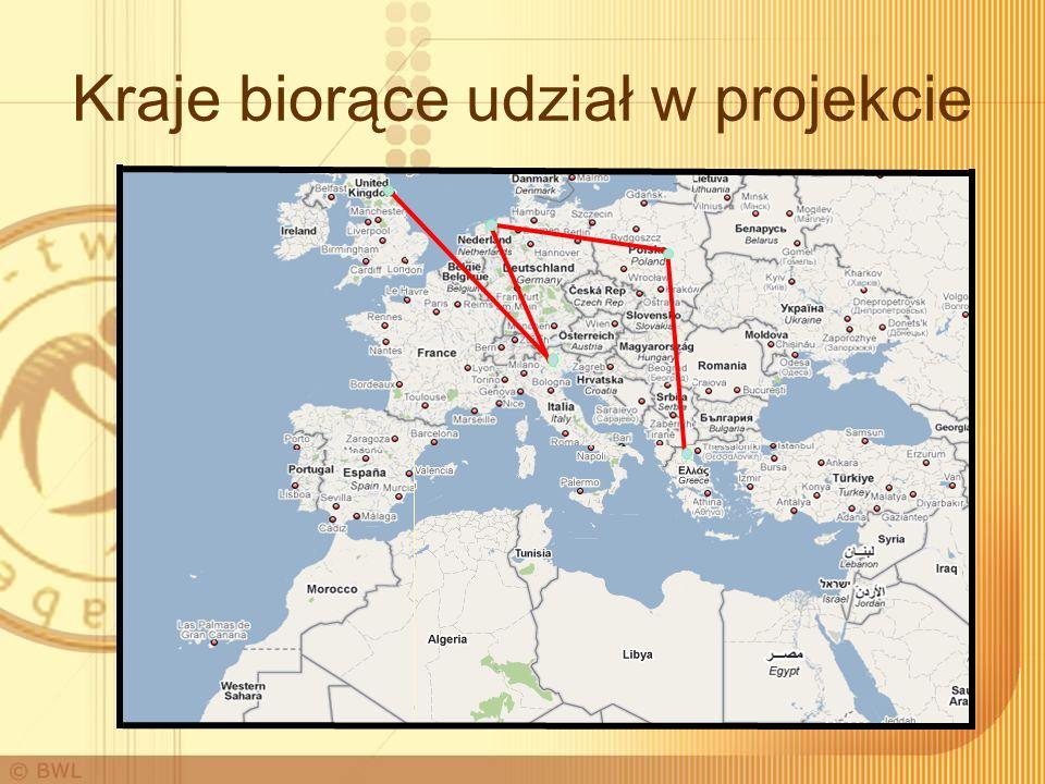 Kraje biorące udział w projekcie