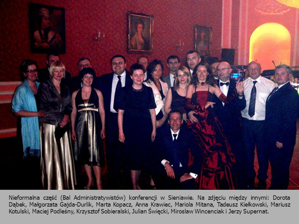 Nieformalna część (Bal Administratywistów) konferencji w Sieniawie. Na zdjęciu między innymi: Dorota Dąbek, Małgorzata Gajda-Durlik, Marta Kopacz, Ann