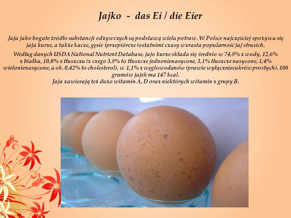 Jaja jako bogate źródło substancji odżywczych są podstawą wielu potraw. W Polsce najczęściej spożywa się jaja kurze, a także kacze, gęsie iprzepiórcze
