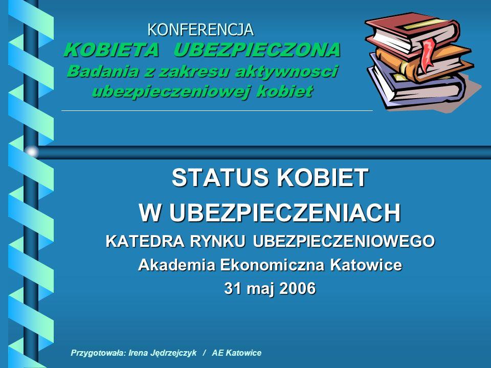 2 STATUS KOBIET W UBEZPIECZENIACH Zagrożenia – przeciwdziałanie i ochrona ubezpieczeniowa 1.Problematyka uprzywilejowania i dyskryminacji płci w teorii naukowej 2.Status kobiet i mężczyzn w powszechnych systemach ochrony ubezpieczeniowej – doświadczenia polskie i zagraniczne 3.Status kobiet i mężczyzn w systemie emerytalnym 4.Programy i świadczenia ubezpieczeniowe dla kobiet i mężczyzn 5.Rynek ubezpieczeniowy – oferta dla kobiet i mężczyzn