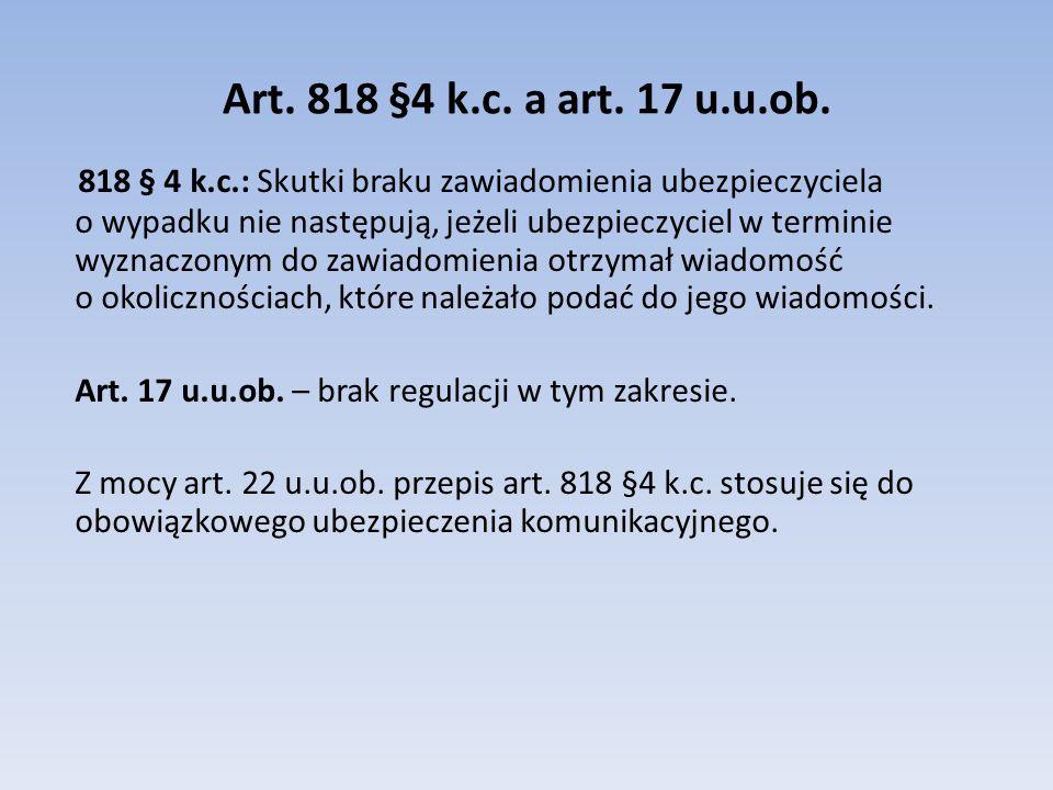 Art.818 §4 k.c. a art. 17 u.u.ob.
