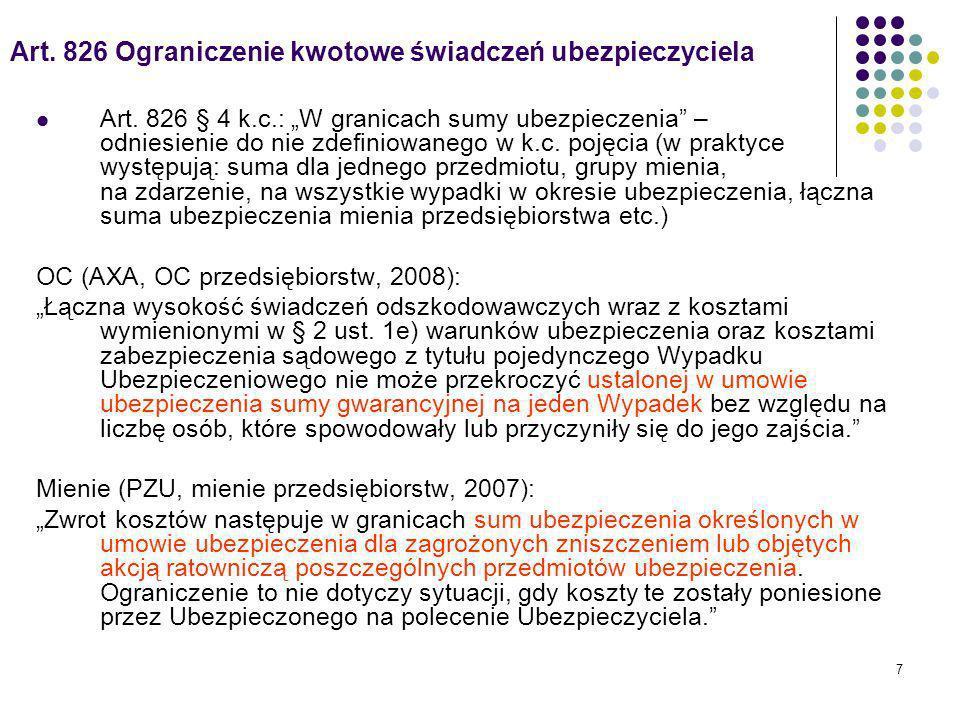 8 Obowiązek prewencyjny w innych ustawach Kodeks morski: Art.