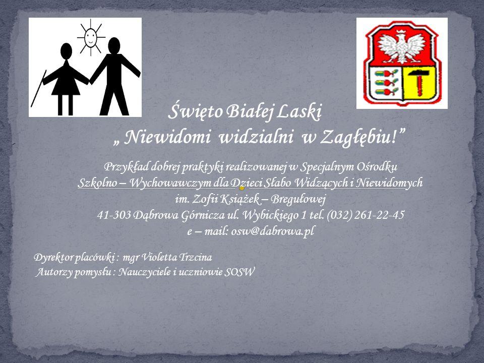 Święto Białej Laski Niewidomi widzialni w Zagłębiu! Przykład dobrej praktyki realizowanej w Specjalnym Ośrodku Szkolno – Wychowawczym dla Dzieci Słabo