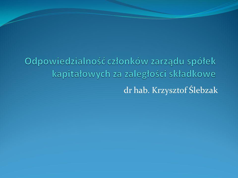 dr hab. Krzysztof Ślebzak