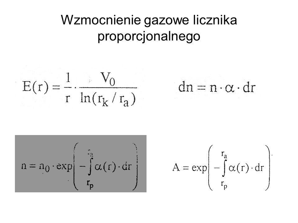 Wzmocnienie gazowe licznika proporcjonalnego
