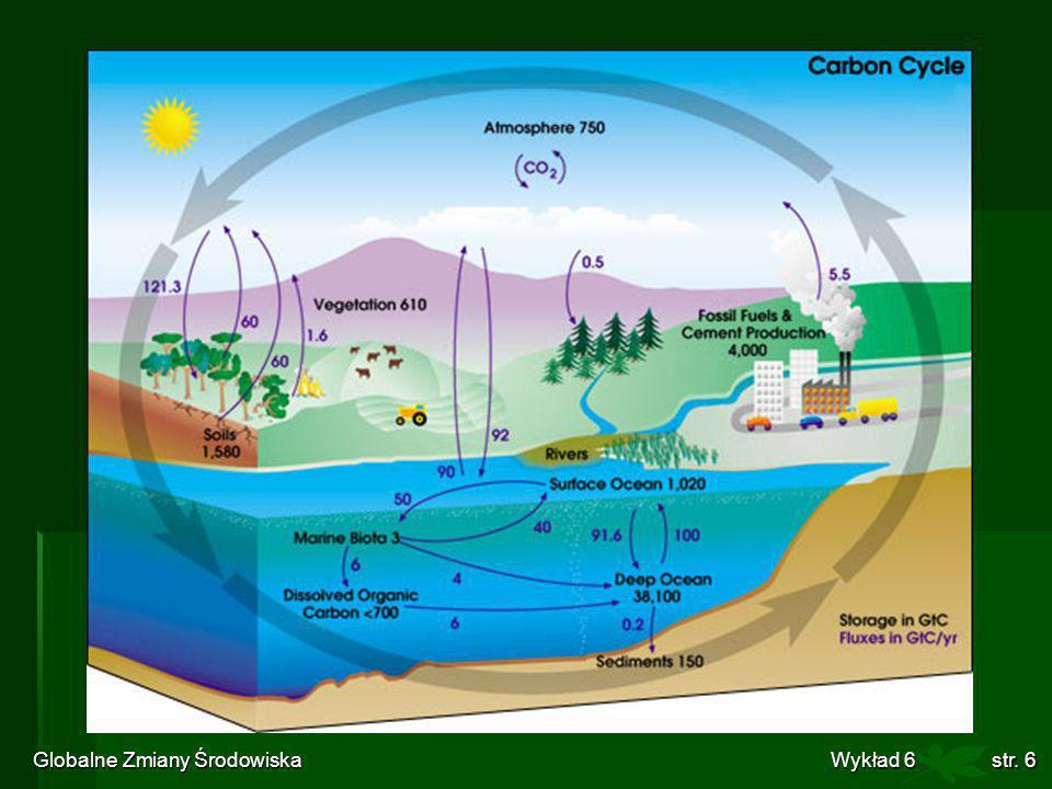 Globalne Zmiany Środowiska Wykład 6str. 6