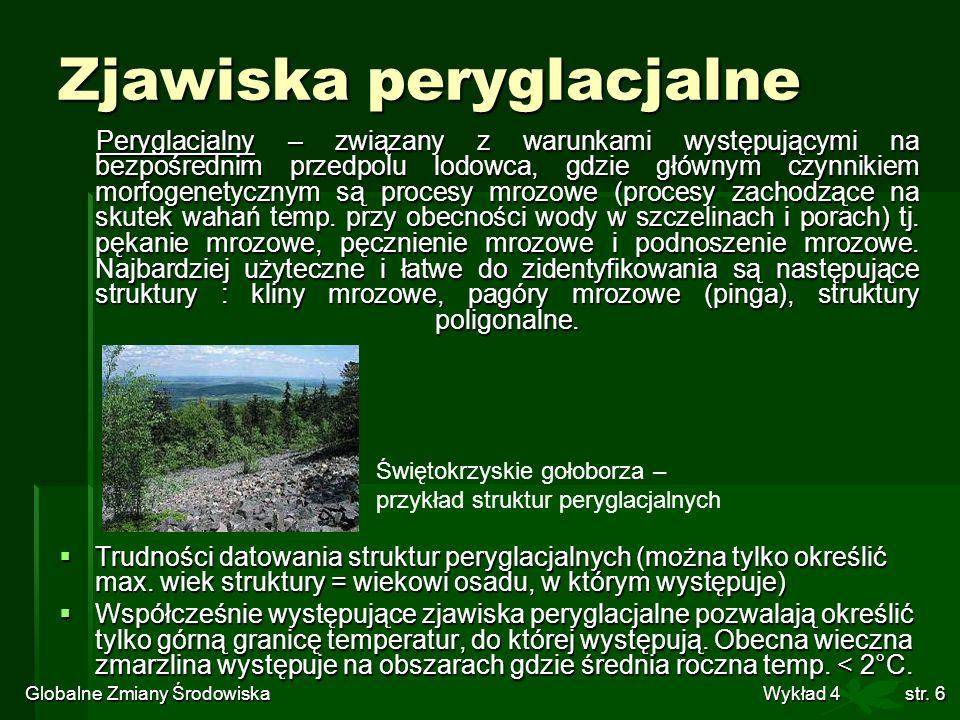 Globalne Zmiany Środowiska Wykład 4str. 17 Warwowane osady jeziorne