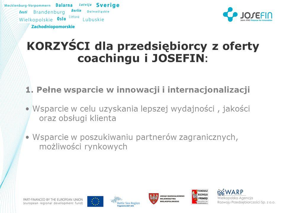 Your Logo KORZYŚCI dla przedsiębiorcy z oferty coachingu i JOSEFIN : 1.