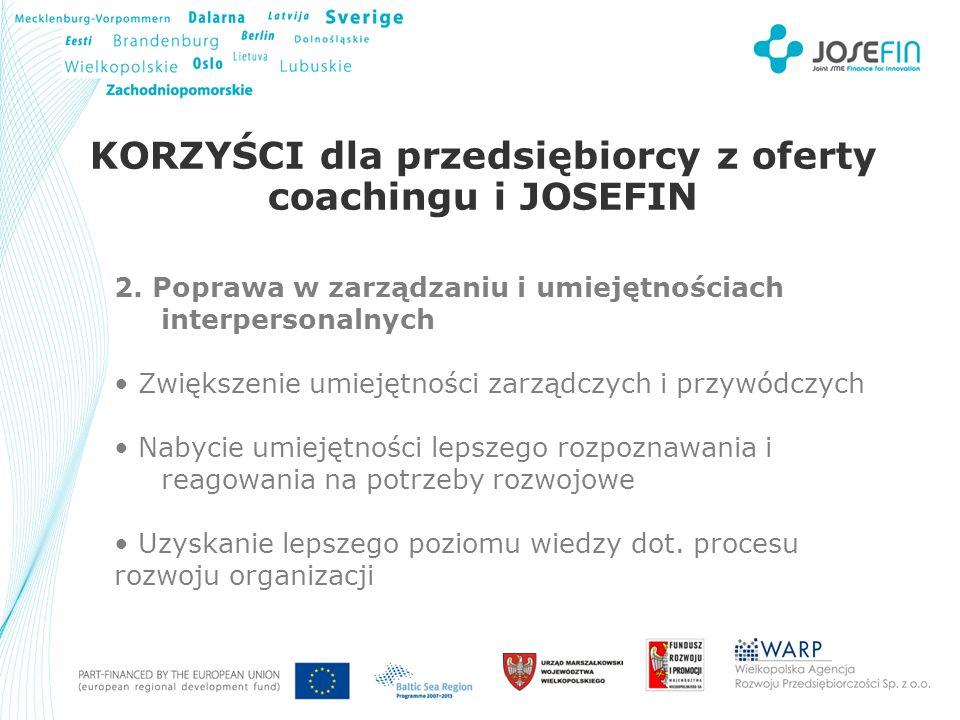 Your Logo KORZYŚCI dla przedsiębiorcy z oferty coachingu i JOSEFIN 2.