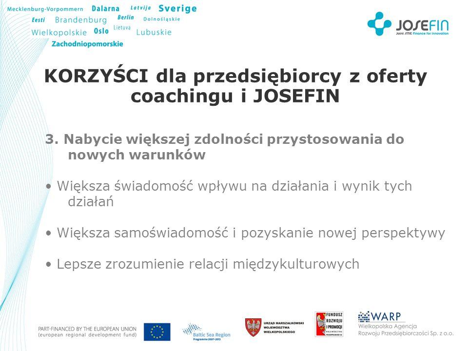 Your Logo KORZYŚCI dla przedsiębiorcy z oferty coachingu i JOSEFIN 3.