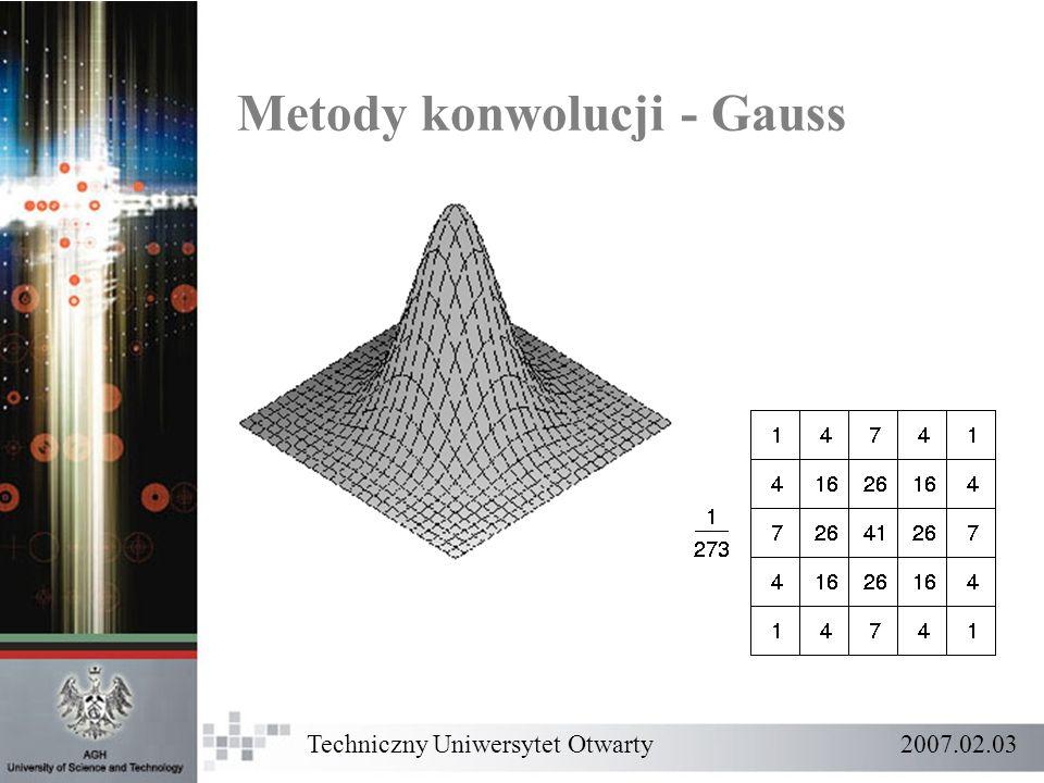 Techniczny Uniwersytet Otwarty 2007.02.03 Metody konwolucji - Gauss