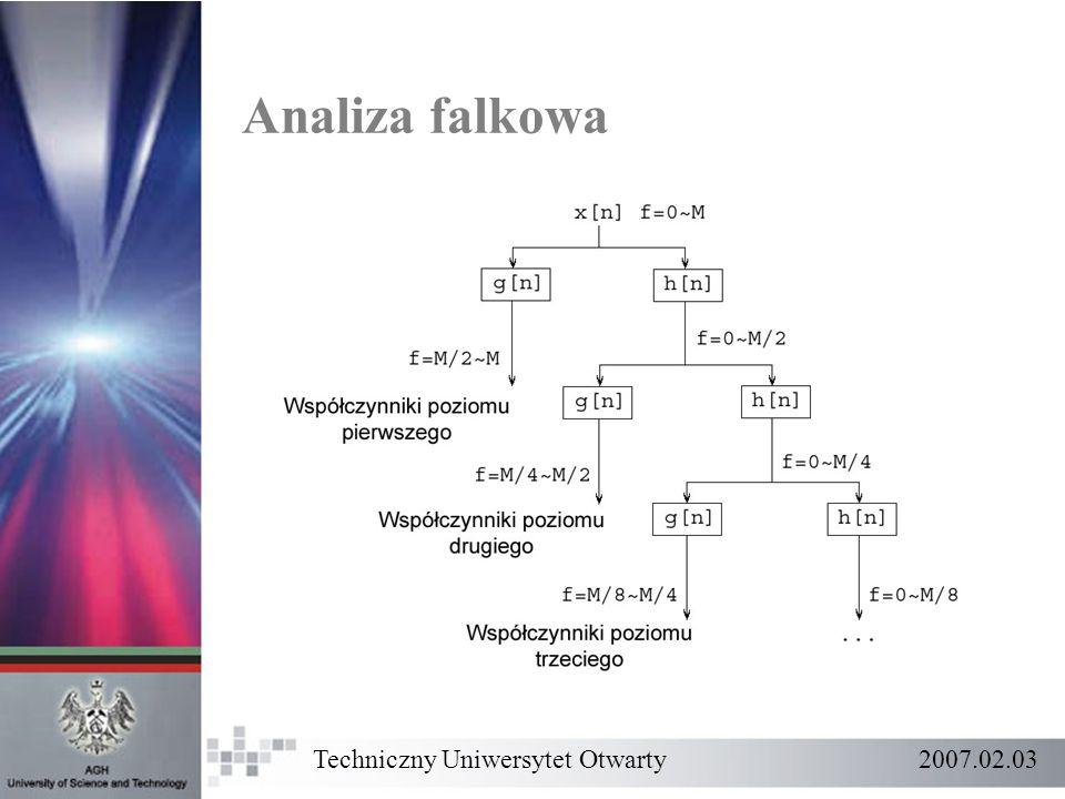 Techniczny Uniwersytet Otwarty 2007.02.03 Analiza falkowa