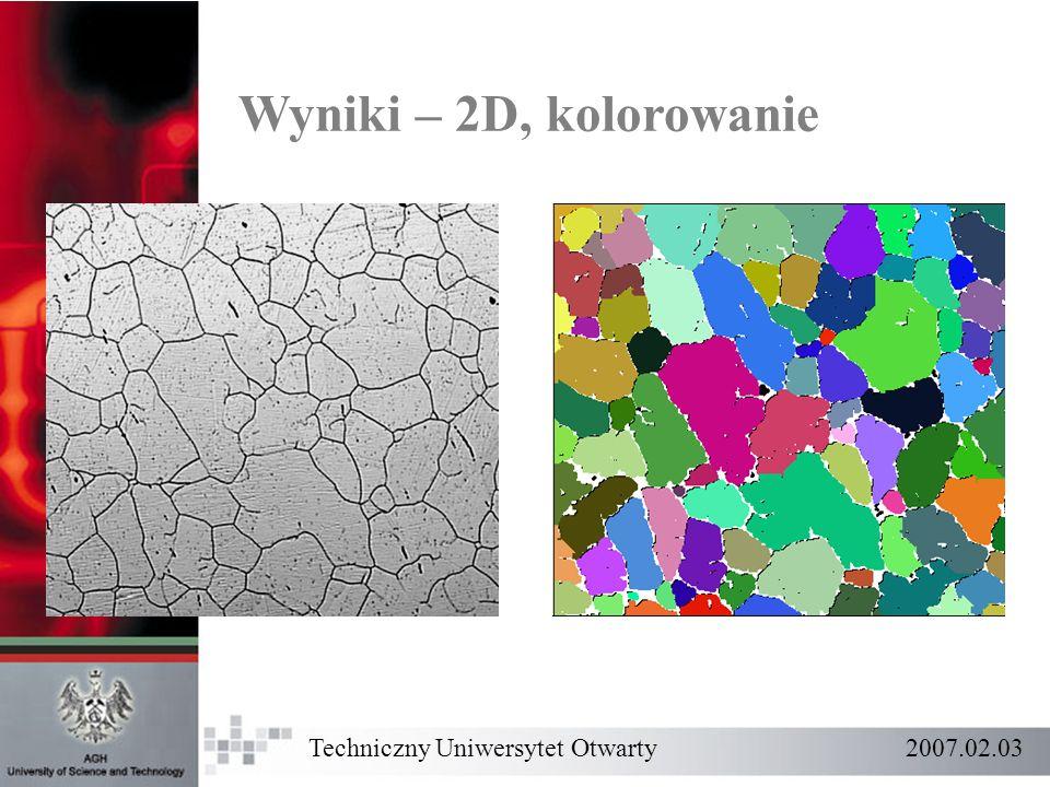 Wyniki – 2D, kolorowanie Techniczny Uniwersytet Otwarty 2007.02.03