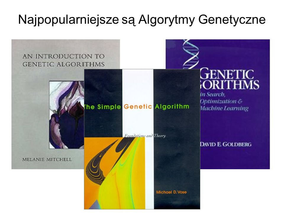 Najpopularniejsze są Algorytmy Genetyczne