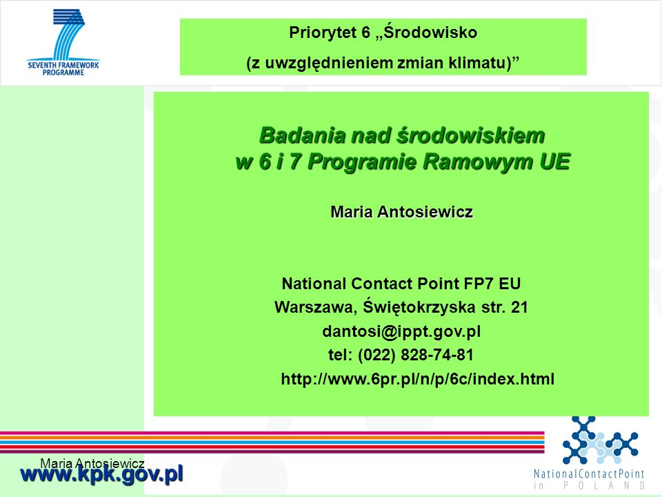 Maria Antosiewicz62 otwarte tematy 6.4.1.Earth and ocean observation systems …….