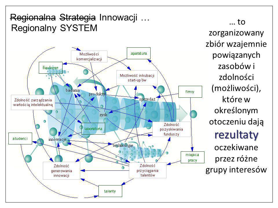 rezultaty … to zorganizowany zbiór wzajemnie powiązanych zasobów i zdolności (możliwości), które w określonym otoczeniu dają rezultaty oczekiwane prze