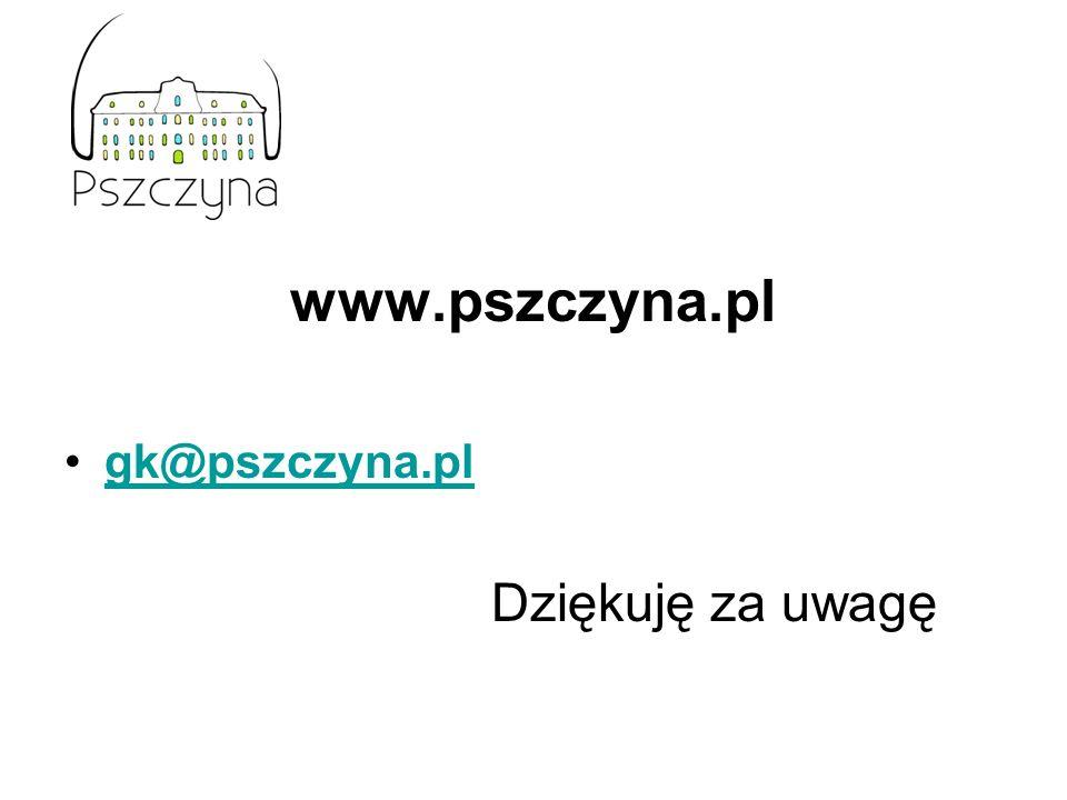 www.pszczyna.pl gk@pszczyna.pl Dziękuję za uwagę