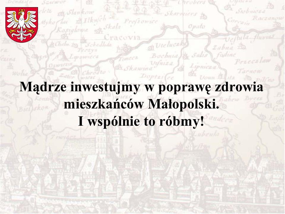 Mądrze inwestujmy w poprawę zdrowia mieszkańców Małopolski. I wspólnie to róbmy!