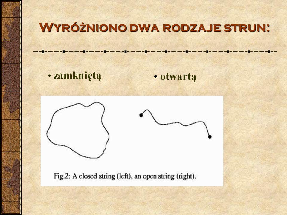 Wyró ż nionodwa rodzaje strun: Wyró ż niono dwa rodzaje strun: zamkniętą otwartą