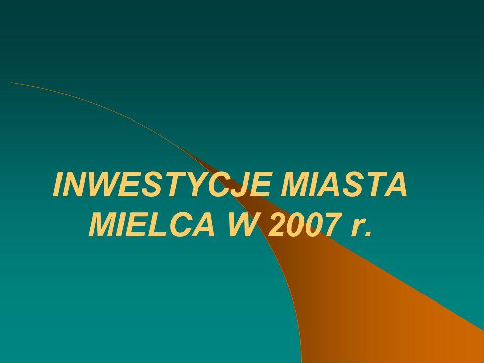 INWESTYCJE MIASTA MIELCA W 2007 r.