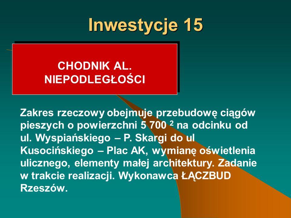 Inwestycje 15 CHODNIK AL.
