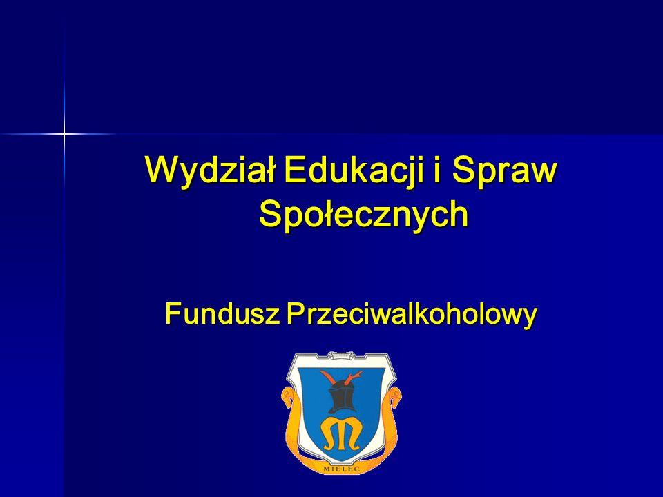 Wydział Edukacji i Spraw Społecznych – Fundusz Przeciwalkoholowy Gminny Program Rozwiązywania Problemów Alkoholowych i Przeciwdziałania Narkomanii na 2008 rok