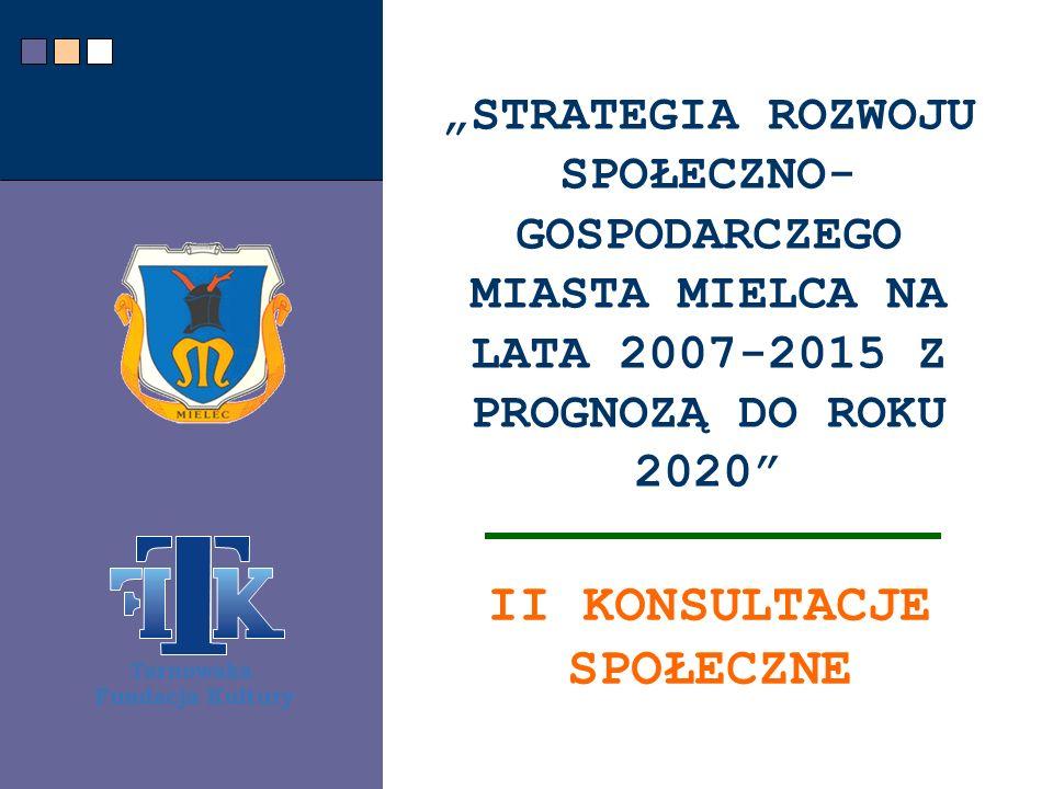 CEL BADANIA Zebranie opinii mieszkańców miasta Mielec o warunkach życia w mieście, barierach rozwojowych, najpilniejszych problemach inwestycyjnych i społecznych do rozwiązania w latach 2007-2015.