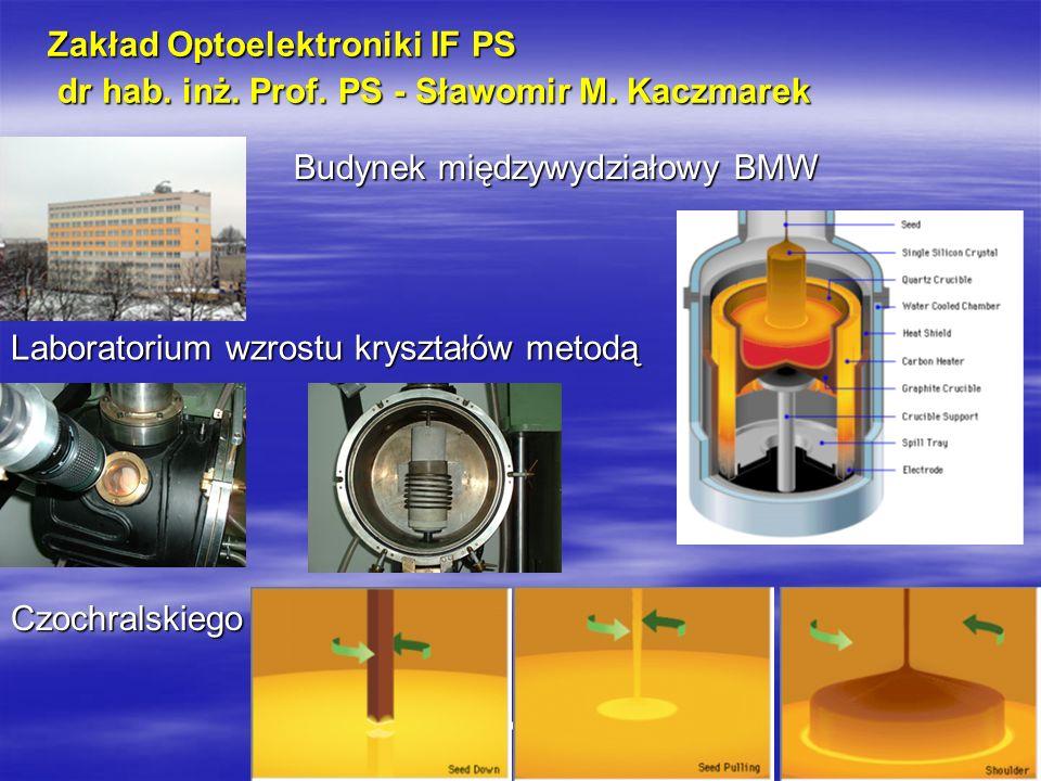 Optoelektronika i fizyka materiałowa 1 Zakład Optoelektroniki IF PS dr hab.