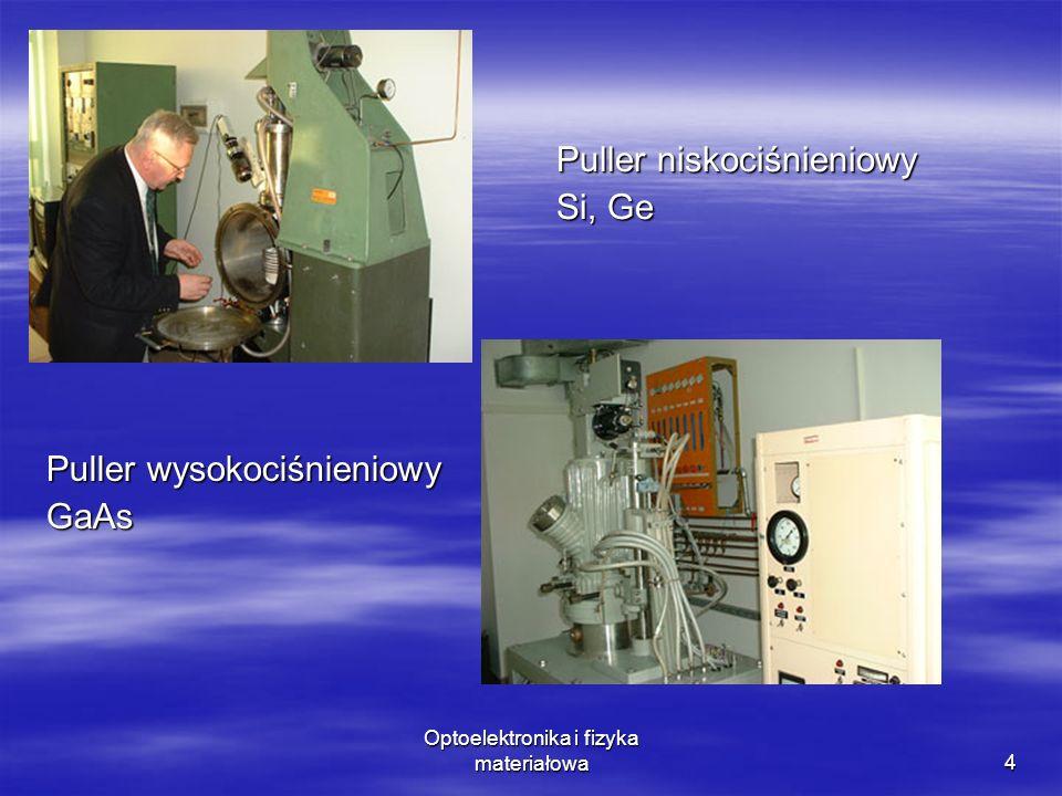 4 Puller wysokociśnieniowy GaAs Puller niskociśnieniowy Si, Ge