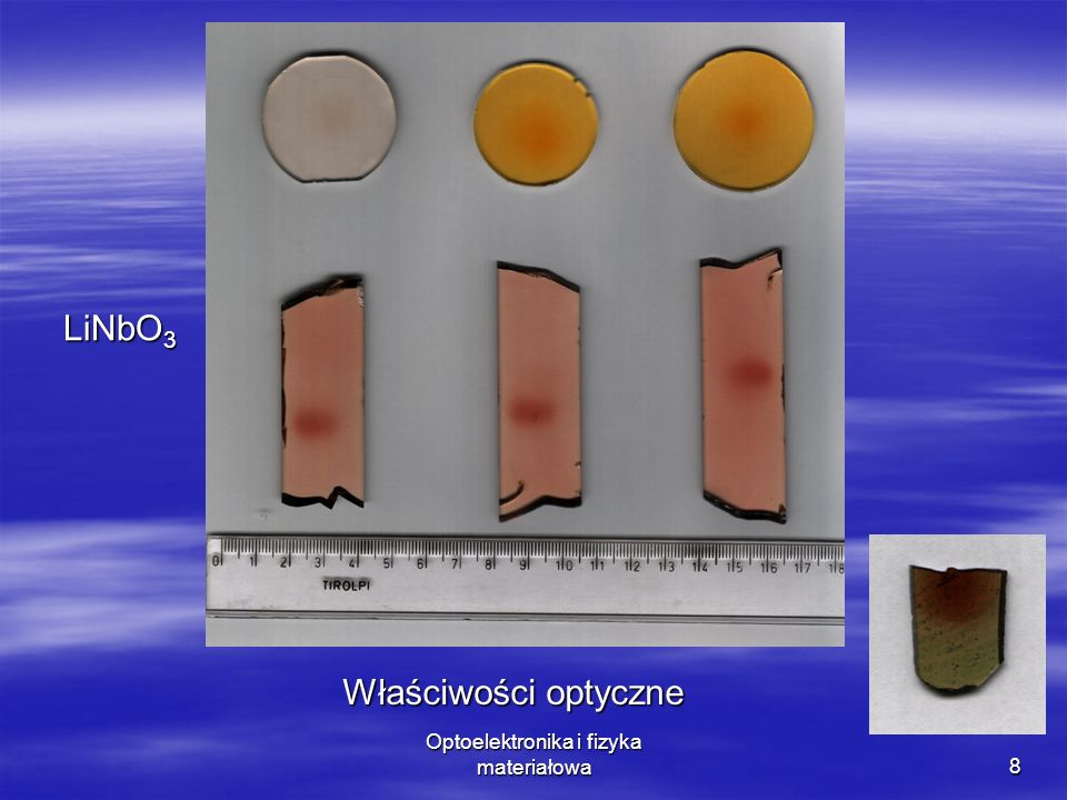 8 LiNbO 3 Właściwości optyczne