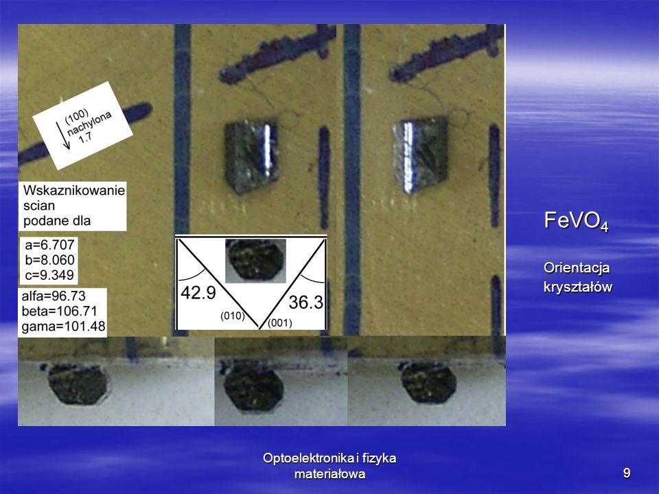 Optoelektronika i fizyka materiałowa9 FeVO 4 Orientacjakryształów