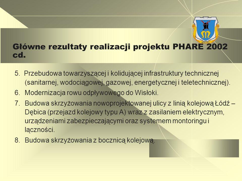 5. Przebudowa towarzyszącej i kolidującej infrastruktury technicznej (sanitarnej, wodociągowej, gazowej, energetycznej i teletechnicznej). 6.Moderniza