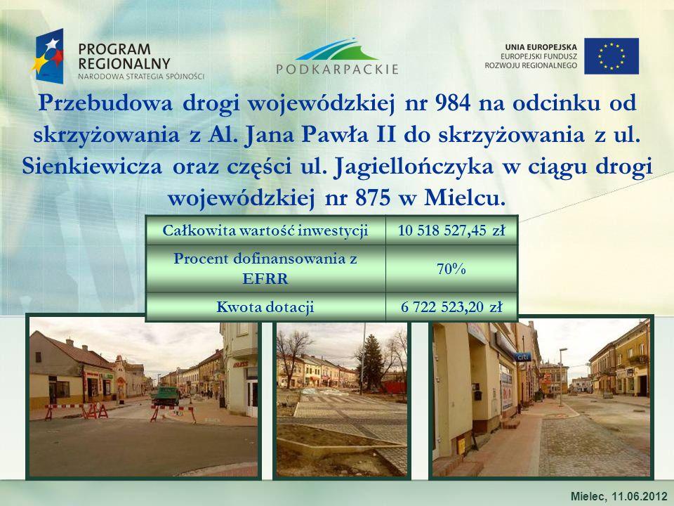 Przebudowa drogi wojewódzkiej nr 984 na odcinku od skrzyżowania z Al. Jana Pawła II do skrzyżowania z ul. Sienkiewicza oraz części ul. Jagiellończyka