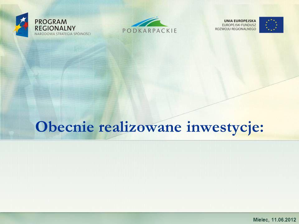 Obecnie realizowane inwestycje: Mielec, 11.06.2012