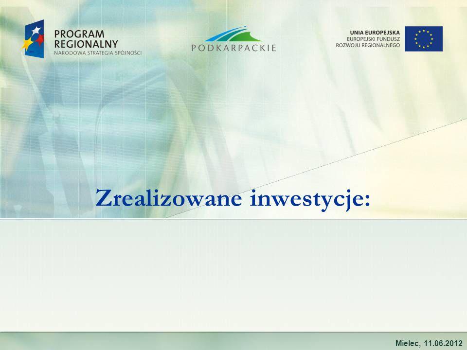 Zrealizowane inwestycje: Mielec, 11.06.2012