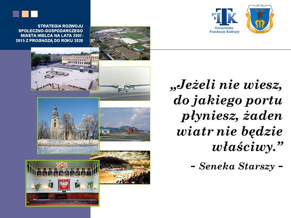 STRATEGIA ROZWOJU SPOŁECZNO-GOSPODARCZEGO MIASTA MIELCA NA LATA 2007- 2015 Z PROGNOZĄ DO ROKU 2020 CZĘŚĆ II – Cele i sformułowania Strategii 7.Wizja 8.Misja 9.Cele strategiczne 10.Matryca- Powiązanie celów strategicznych z celami dokumentów strategicznych określających rozwój miasta Mielca, regionu i kraju.