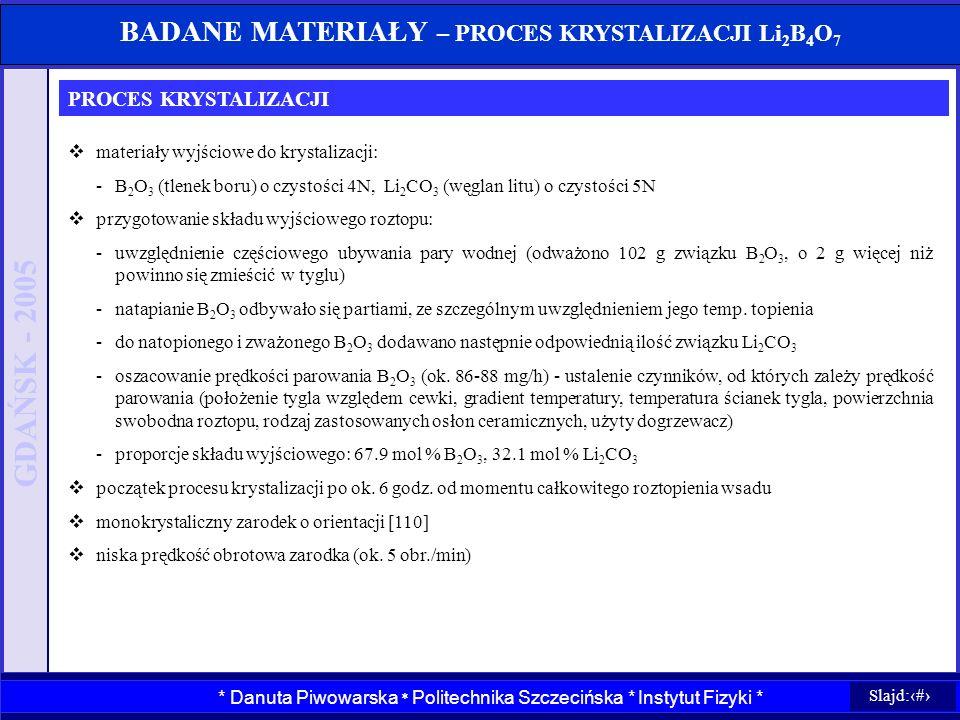 GDAŃSK - 2005 Wydział Informatyki * Politechnika Szczecińska * Instytut Systemów Informatycznych * Wydział Informatyki * Politechnika Szczecińska * In