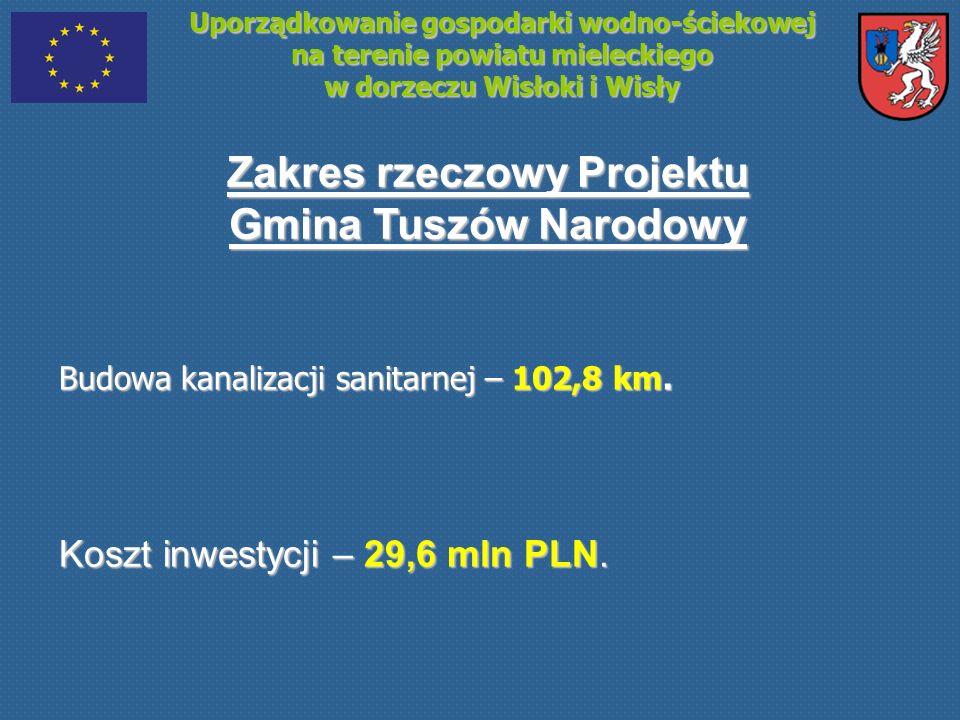 Uporządkowanie gospodarki wodno-ściekowej na terenie powiatu mieleckiego w dorzeczu Wisłoki i Wisły Zakres rzeczowy Projektu Gmina Tuszów Narodowy Bud
