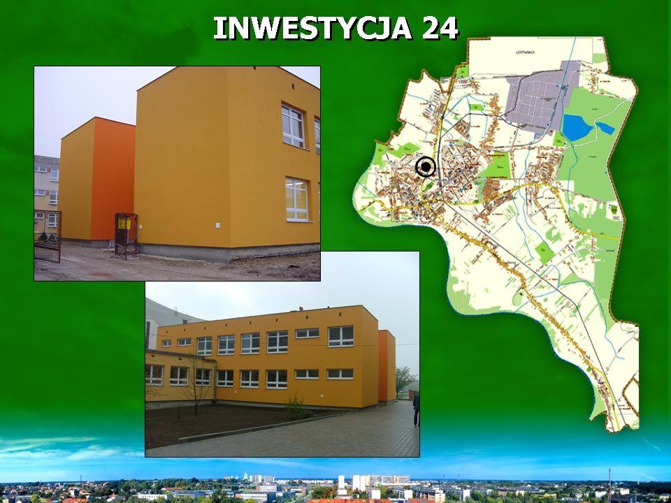 INWESTYCJA 24 Środki otrzymane od Wojewody Podkarpackiego w całości wykorzystano na modernizację w/w obiektu PRZEBUDOWA BUDYNKU ZSO NR 1 PRZY UL.